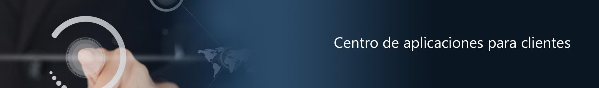 Centro aplicaciones para clientes